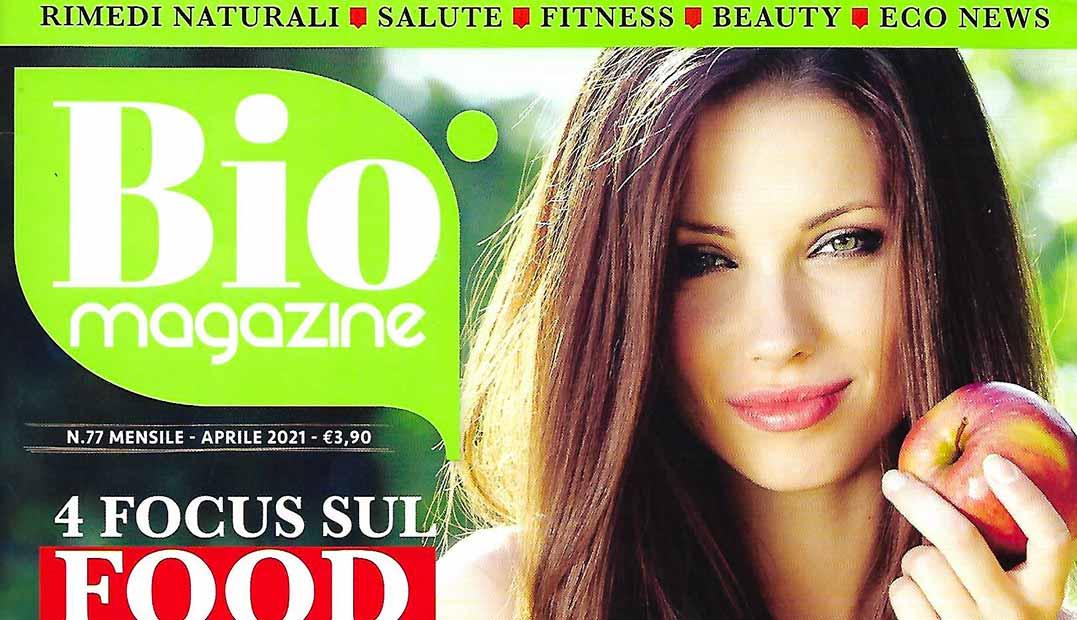 Copertina Bio Magazine Aprile 2021. Senso di colpa. Intervista Canil